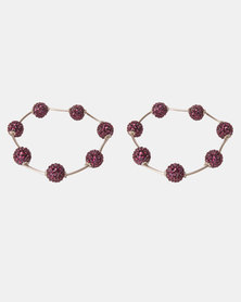 Lily & Rose Floating Bead Bracelet Purple