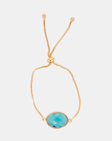 Lily & Rose Jewelled Bracelet Gold/Turquoise
