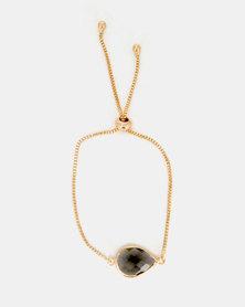 Lily & Rose Jewelled Bracelet Gold/Smoke