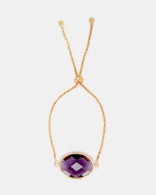 Lily & Rose Jewelled Bracelet Gold/Purple