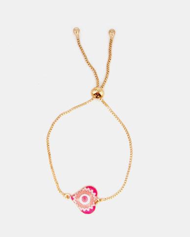 Lily & Rose Heart Bracelet Pink