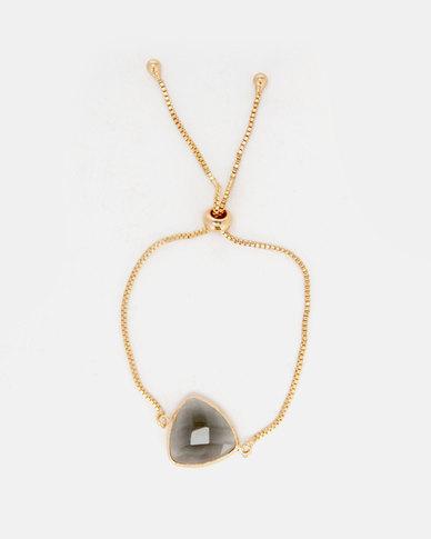 Lily & Rose Triangle Jewelled Bracelet Smoke