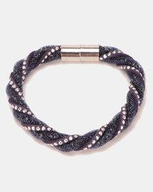 Lily & Rose Twisted Bracelet Navy