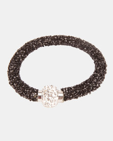 Lily & Rose Chunky Glitz Bracelet Black