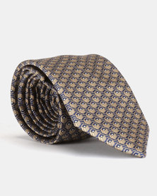 JCrew Geo Design Tie Gold & Blue