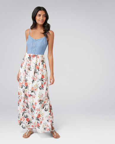 efbbddbf7a Forever New Grace Printed 2 In 1 Maxi Dress Rose Garden Print