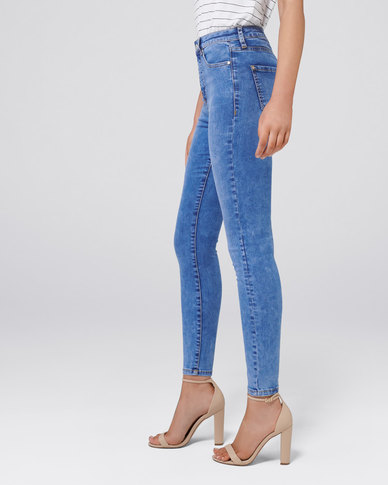 Forever New Bella High Rise Sculpting Jeans Amalfi Blue