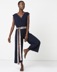 MOVEPRETTY Jumpsuit Navy