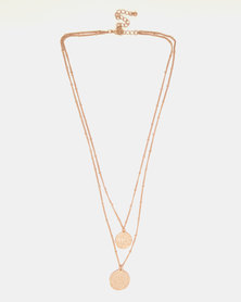 By Cara Double Coin Chain Gold-Tone