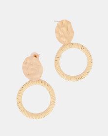 By Cara Woven Hoop Earrings Gold-Tone
