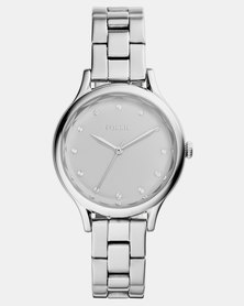 Fossil Laney Three-Hand Stainless Steel Watch Silver
