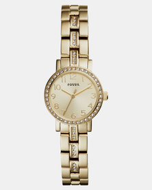 Fossil Shae Mini Three-Hand Stainless Steel Watch Gold