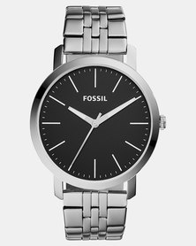 Fossil Luther Three-Hand Stainless Steel Watch Silver
