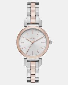 DKNY  Ellington Watch Silver Multi