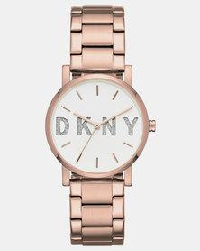 DKNY SoHo Watch Rose Gold