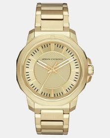 Armani Exchange Analogue Watch Gold