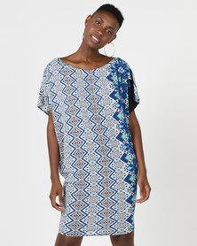 Michelle Ludek Jackie Dress Blue Multi