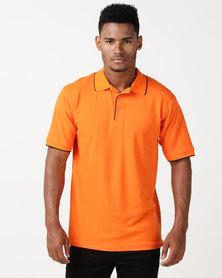 Pro Active Polo Shirt Orange/Black