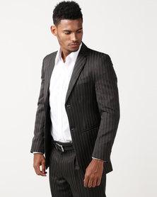 Pro Active Peter Stripe Jacket Charcaol