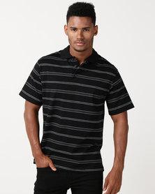 Pro Active Fashion Stripe Golfer Black