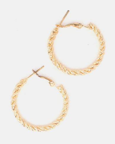 Lily & Rose Chunky Twist Earrings Gold
