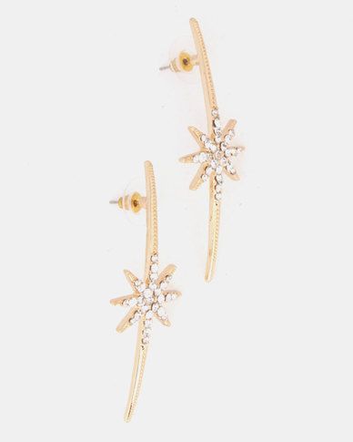 Lily & Rose Celestial Earrings Gold-Tone