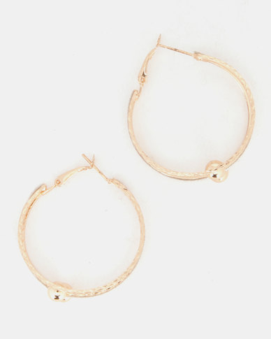 Lily & Rose Not Like The Rest Hoop Earrings Gold-Tone