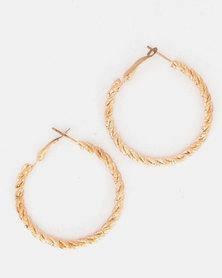 Lily & Rose Twist Hoop Earrings Gold-Tone