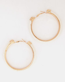Lily & Rose Glimmer Hoop Earrings Cream