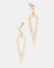 Lily & Rose Drip Drop Earrings Gold-Tone