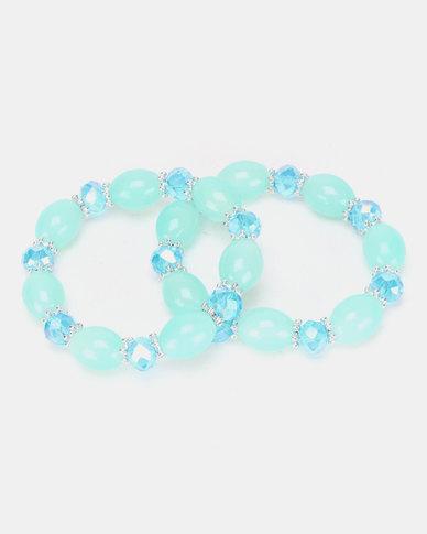 Lily & Rose Ocean Beaded Bracelet Blue