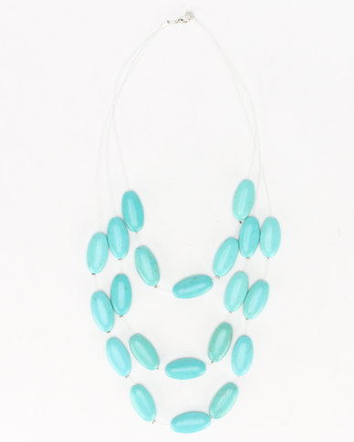 Lily & Rose Floating Beaded Necklace Torqua