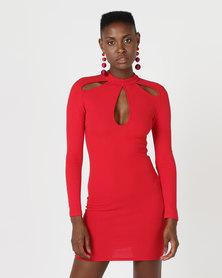 AX Paris Keyhole Detail Dress Red