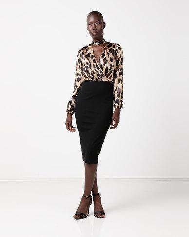 4457ebc62da2 AX Paris Plunge Leopard Print 2 In 1 Dress Multi | Zando