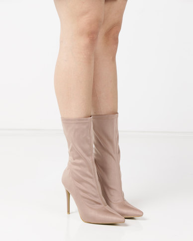 AX Paris Heeled Ankle Boots Mocha