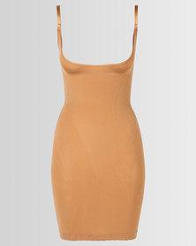 Covet Slip Dress Nude