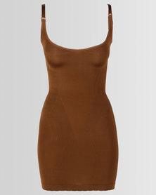 Covet Shapewear Slip Dress Mocha