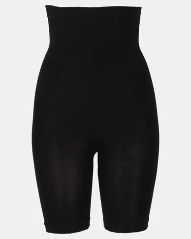Covet Shapewear High Waisted Long Leg Shorts Black