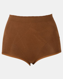 Covet Shapewear High Waisted Panty Mocha