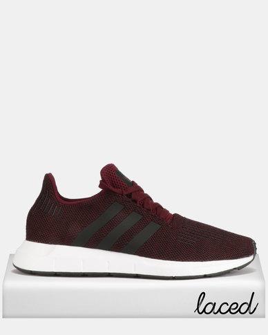 2dc47ddba8752 adidas Originals Swift Run Sneakers MAROON CBLACK FTWWHT