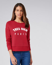 Forever New Damica Tres Bien Sweat Red