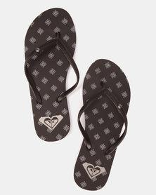 Roxy Bermuda Flip Flops 1 Black