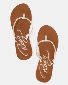 Roxy Cabo Flip Flops White
