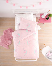 Linen House Unicorn Sparkle Duvet Set Pink