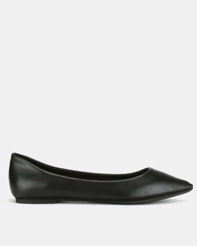 Utopia Pointy Flat Pumps Black