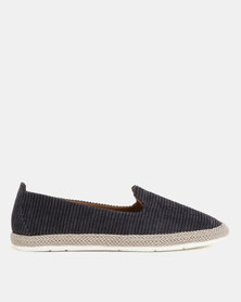 Utopia Espadrille Slip On Flats Navy