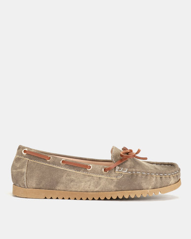Utopia Docksider Slip Ons Coffee
