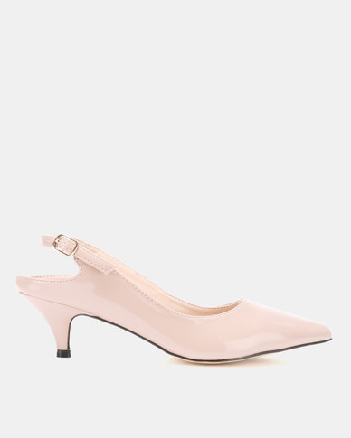 Utopia Long Waist Slingbacks Nude
