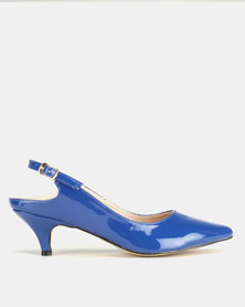 Utopia Long Waist Slingbacks Blue