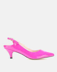 Utopia Long Waist Slingbacks Pink